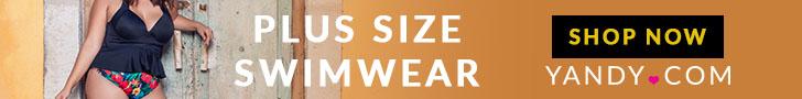 Plus Size Swimwear Yandy - Yellow