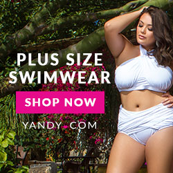 Plus Size Swimwear White Yandy