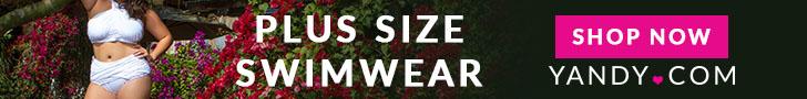 Plus Size Swimwear White Yandy