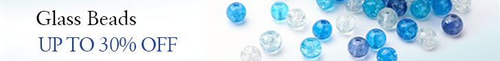 Up to 30% OFF on Glass Beads, ends on July 25th, 2018 PST