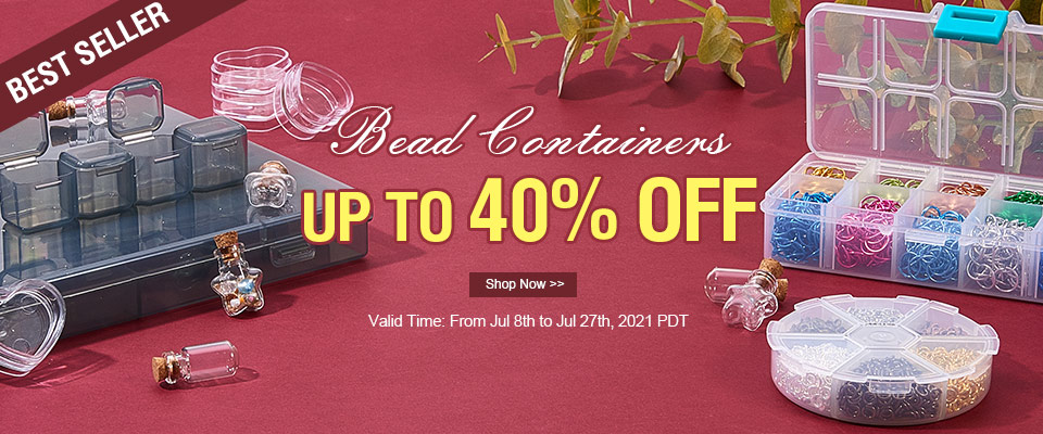 UP TO 40% OFF on BEST SELLER Bead Containers