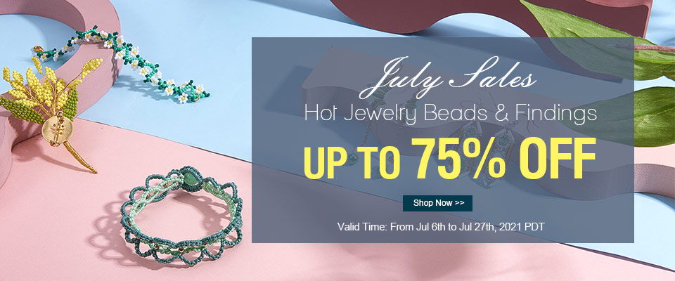 Up to 75% OFF July Sales on Hot Sale Jewelry Beads and Findings