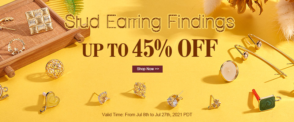UP TO 45% OFF on Stud Earring Findings