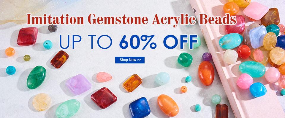 Up to 60% OFF on Imitation Gemstone Acrylic Beads