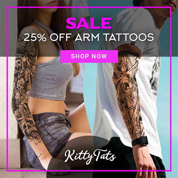 25 percent off arm tattoos