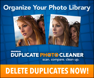 Organize Photo Library, Delete Dupes, DL, MAC