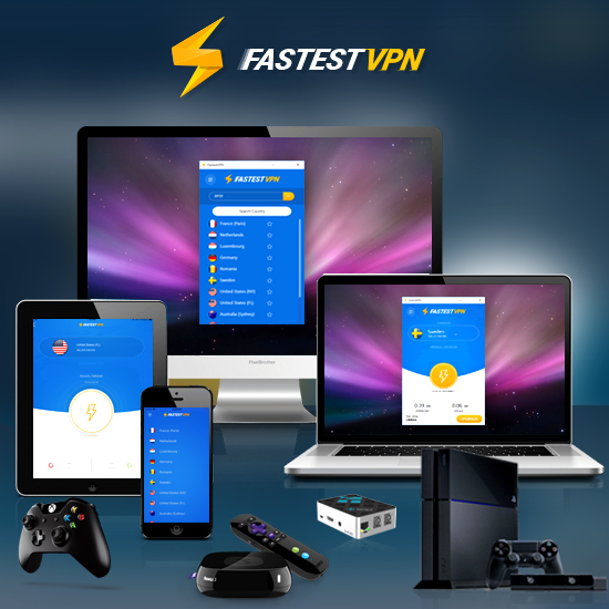 FastestVPN: Lifetime Subscription (10 Multi Logins)