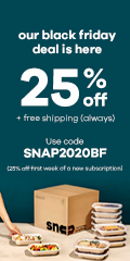Black Friday starts now — take 25% off your first order with code: SNAP2020BF!