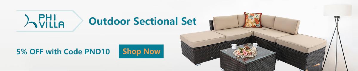 Discount Outdoor Rattan Sectional Sofa
