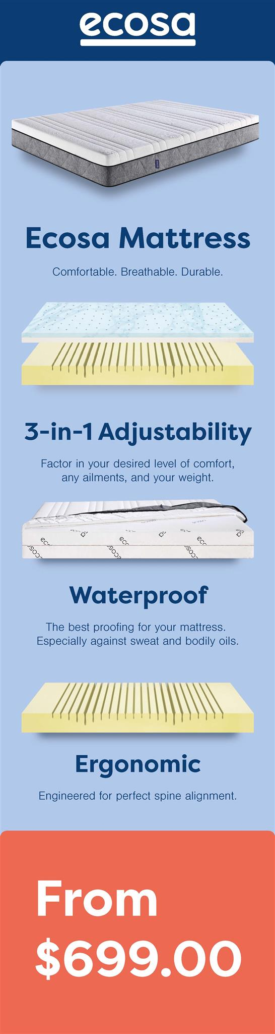 ecosa mattress height