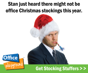 Get last minute Stocking Stuffers @ OfficePlayground
