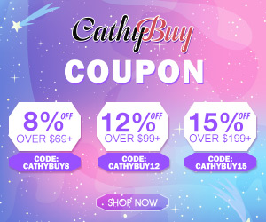 Cathybuy.com 8%Off, 12%Off, 15%Off