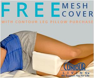 Free Extra Leg Cover at ContourLiving.com for Leg Pillows