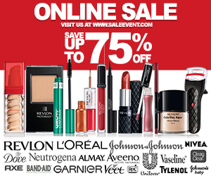 Up To 75% Off Brand Name Cosmetics and More!