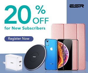 20% OFF for New Subscriber - ESR