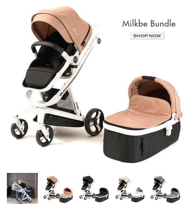 Milkbe Stroller Bundle - Self Stopping Milkbe Stroller