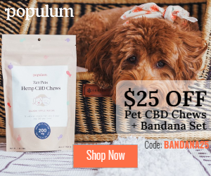 $25 Off Pet CBD Chews + Bandana Set