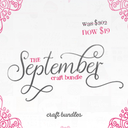 The September Craft Bundle by CraftBundles.com