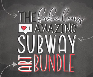 The Subway Art Bundle, only at CraftBundles.com!