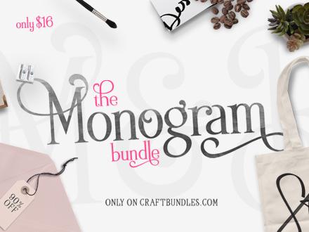 The Monogram Bundle, only at CraftBundles.com!