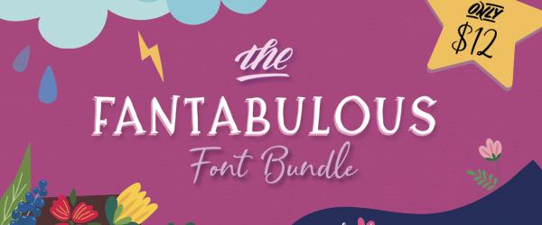 The Fantabulous Font Bundle, only at CraftBundles.com!