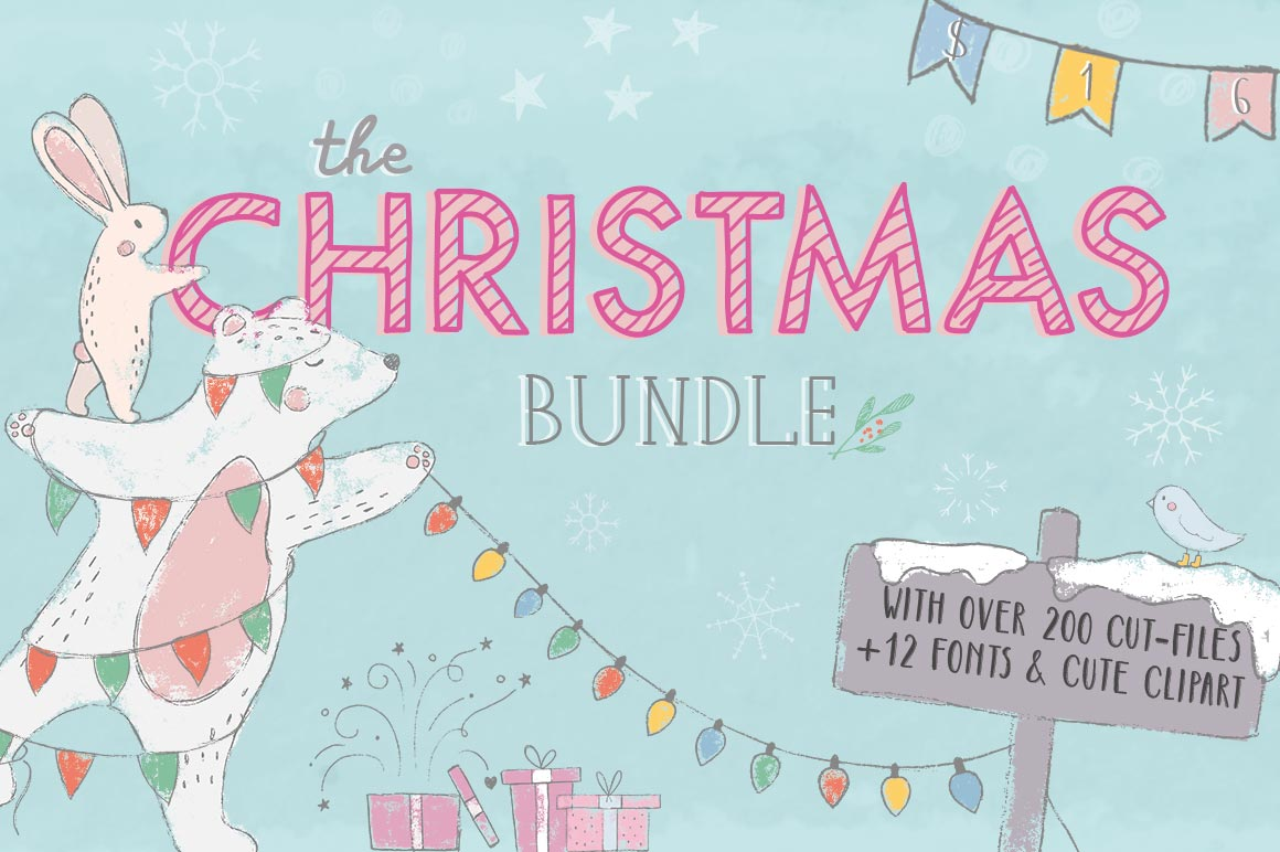 The Christmas Bundle, only at CraftBundles.com!