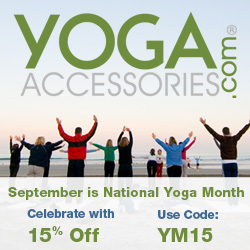 Celebrate National Yoga Month with 15% off at YogaAccessories.com