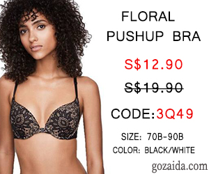 Floral Pushup Bra S$12.90