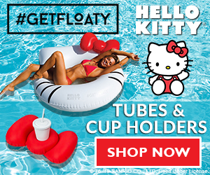 Shop Hello Kitty Tubes & Cup HoLders at GETFLOATY