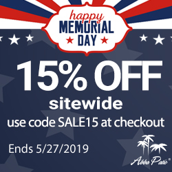 Memorial day sale! Sitewied 15% Off Free Shipping! Code SALE15. Ends 5/27/2019.