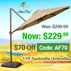 Sunbrella sale! $70 Off plus Free Shipping! Code AF70.