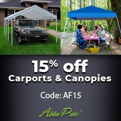 Hot Sale! 15% Off Carports & Canopies! Use Code AF15.