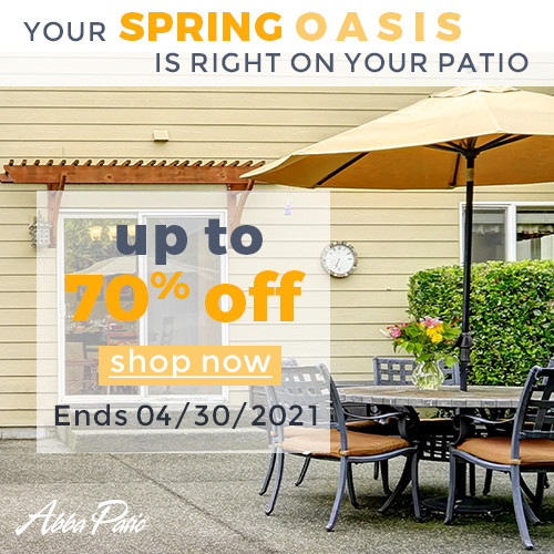 Your Spring Oasis is Right on Your Patio! Selected Patio Umbrellas & Carports Up to 70% Off! Ends 4/30/2021.