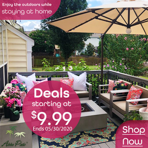 Enjoy the Outdoors While Staying at Home! Selected Patio Products on Hot Deals! Ends 05/30/2020.