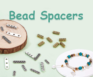 Bead spacers are used for attractively adding distance, color & texture to your jewelry design work.