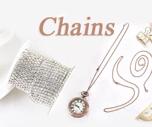 Chain is great for necklace, bracelet beading making