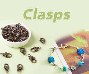 Beebeecraft offers a wide range of different style clasps for you to choose from, including Lobster Claw, Magnetic Clasps, Key Clasps, Swivel Clasps, Toggle Clasps and much more!