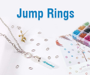 Jump rings of diverse gauges, materials and diameters are all available at Beebeecraft.