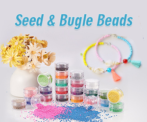 Seed & bugle beads are uniform in round shape and ranging in size from under a millimeter to several millimeters