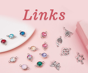 Not only can be used to add length in jewelry makings and designs, links and connectors can also determine the jewelry style.