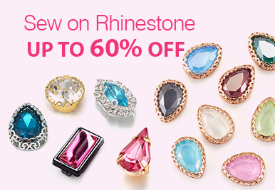 Up to 60% Off for Sew On Rhinestone