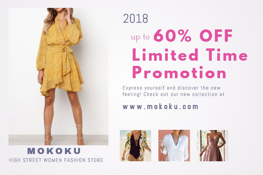 MOKOKU Coupon Codes and Coupons