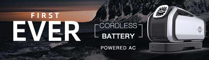 First Ever Cordless Battery-Powered AC Unit