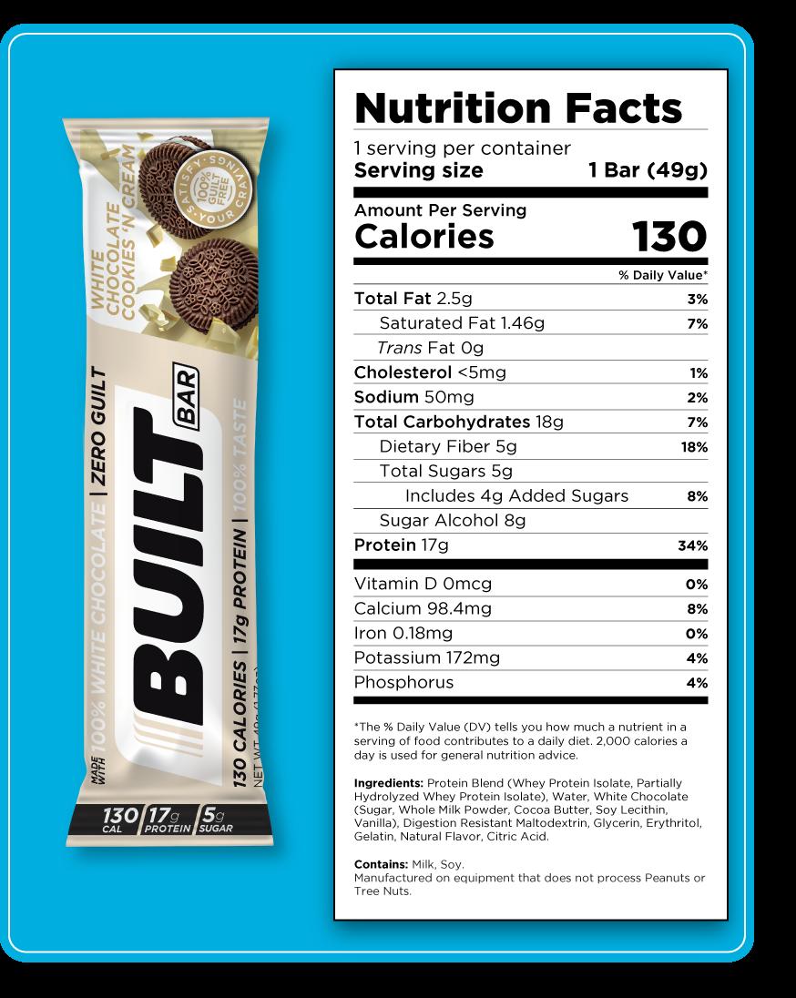 WhiteChocolateCookiesNCream Nutrition