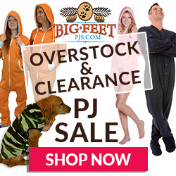 Save BIG on Overstock and Clearance PJs at BigFeetPJs.com