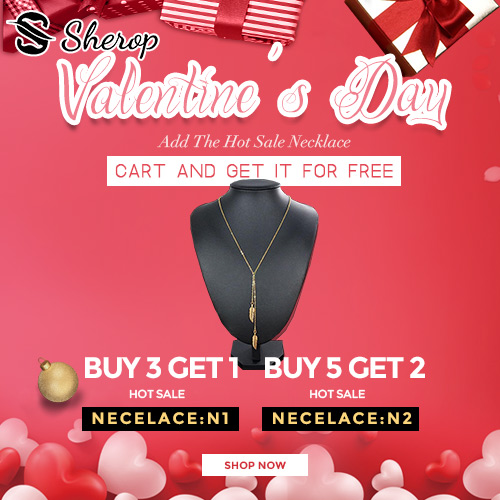 Happy Valentine's Day! Shop at Sherop now?