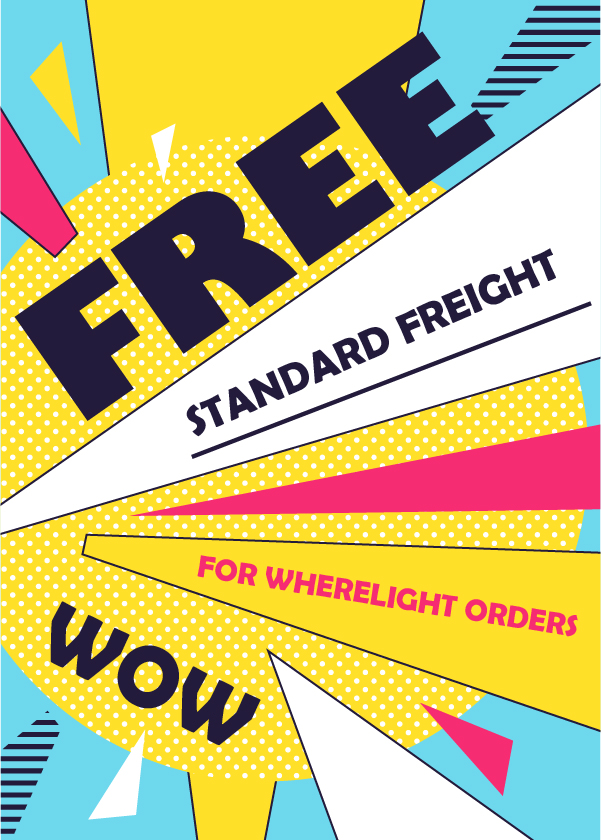 Free Standard Freight For All Wherelight Ordersc