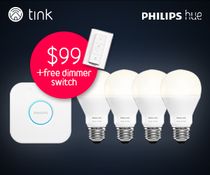 Philips Hue Starter Set 4 pack + free dimmer switch