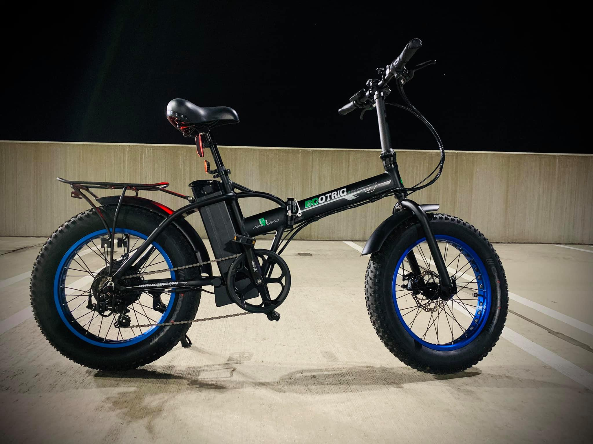 Ecotric 48V Fat Tire Portable and Folding Electric Bike