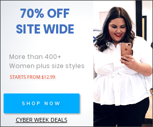 70% off Plus Size Dress